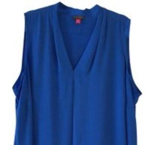 Vince Camuto Blue V-Neck Sleeveless Top 3X  NWT